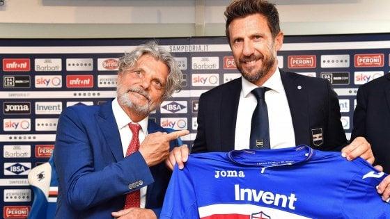 """Sampdoria, Di Francesco: """"Non è un passo indietro, qui per imporre il mio calcio"""""""