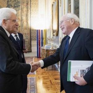 Sergio Mattarella e Angelo Cardani