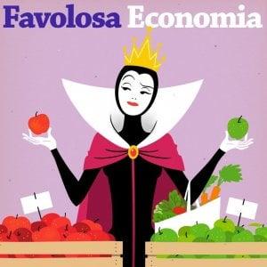 Il podcast Favolosa Economia, su storielibere.fm (illustrazione di Pierdomenico Sirianni)