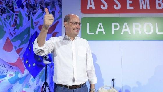 """Pd, l'Assemblea nazionale a Roma. Zingaretti: """"Siamo unica alternativa, cambiare tutto e basta divisioni"""""""