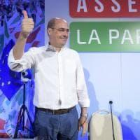 """Pd, l'Assemblea nazionale a Roma. Zingaretti: """"Siamo unica alternativa, cambiare tutto e..."""