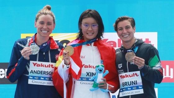 Mondiali nuoto, fondo: Rachele Bruni bronzo nella 10 chilometri