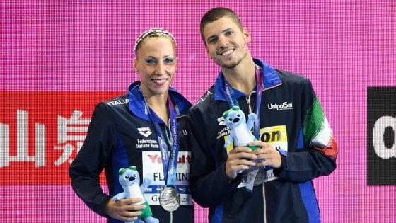 Nuoto sincronizzato, Mondiali: Flamini-Minisini argento nel duo tecnico