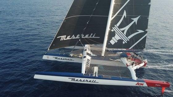 """Vela, forte impatto in Pacifico tra Maserati Multi 70 e un oggetto galleggiante. Soldini: """"Danni pesanti allo scafo sinistro"""""""