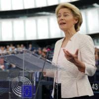 """Ue, von der Leyen: """"Se Europa fosse donna sarebbe Simone Veil. Io nemica di chi vuole..."""