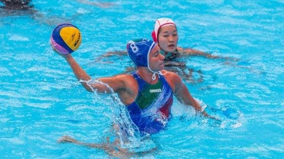 Pallanuoto, Mondiali: il Setterosa doma anche il Giappone e vede i quarti