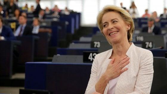 """Ue, Ursula von der Leyen eletta presidente della Commissione: """"La fiducia che avete in me la riponete nell'Europa"""""""