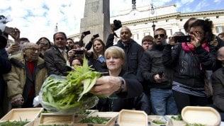 Bernardini durante una protesta nel 2012