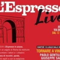 L'Espresso Live, stasera Saviano a Roma all'Arco di Giano