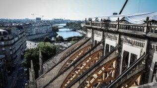Notre-Dame, nuovi archi di legno e reti sospese: così rinasce la cattedrale di Parigi