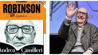 """Robinson, dedicato ad Andrea CamilleriRoberto Saviano: """"Ciao maestro di libertà"""""""