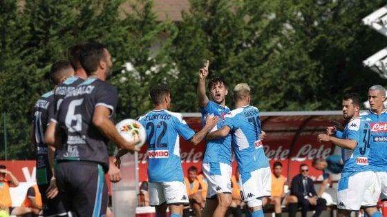 Napoli, 5-0 alla Feralpisalò. Ancelotti: ''Per il campionato saremo perfetti''