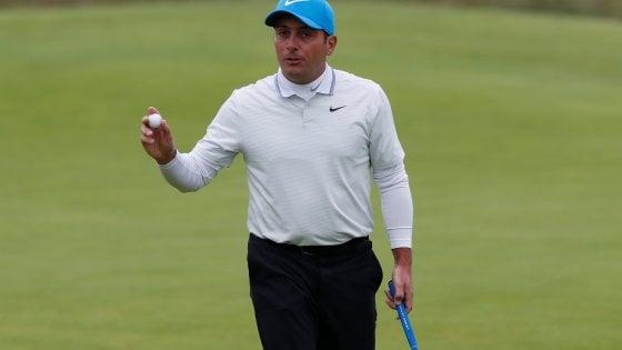 Golf, British open: Molinari reagisce e resta in corsa, eliminato Woods