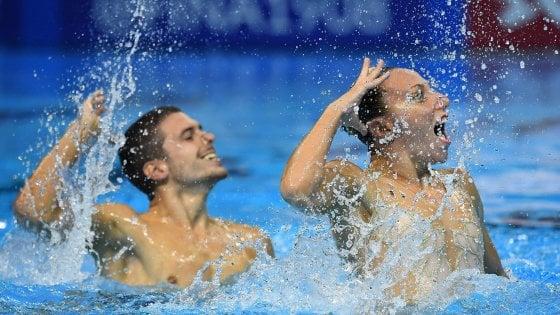 Nuoto sincronizzato, Mondiali: argento per Minisini e Flamini nel duo misto libero