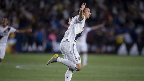 Mls: Ibrahimovic show nel derby di Los Angeles, tripletta e attacco a Vela