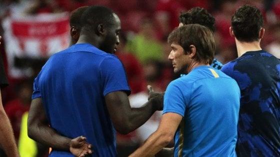 """Inter, Conte: """"Lukaku ci farebbe migliorare, da Perisic risposte negative"""""""