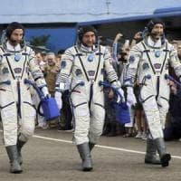 """L'astronauta Luca Parmitano ritorna nello spazio:  """"E' fantastico essere qui, grazie..."""