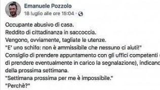 """""""L'Italia dei parassiti"""", assessore di FdI attacca cittadino su Fb: un invalido con trapianto di midollo"""