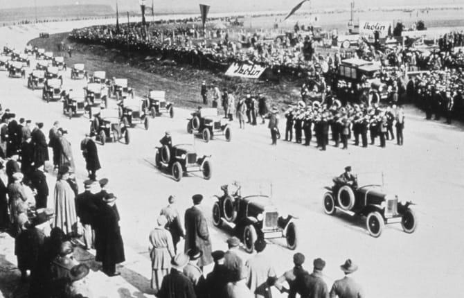 Opel, 100 anni fa il primo circuito privato