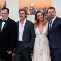 Brad Pitt, Leo DiCaprio, Margot Robbie e Tarantino, a Los Angeles la première americana di 'C'era una volta a... Hollywood'