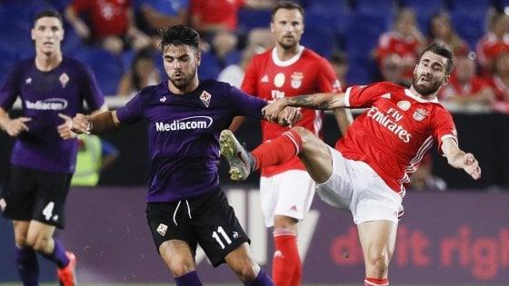 """Fiorentina ko col Benfica nell'ICC, Montella: """"Risposte importanti dagli Usa"""""""
