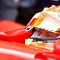 Mick Schumacher in pista a Hockenheim sulla Ferrari di papà Michael
