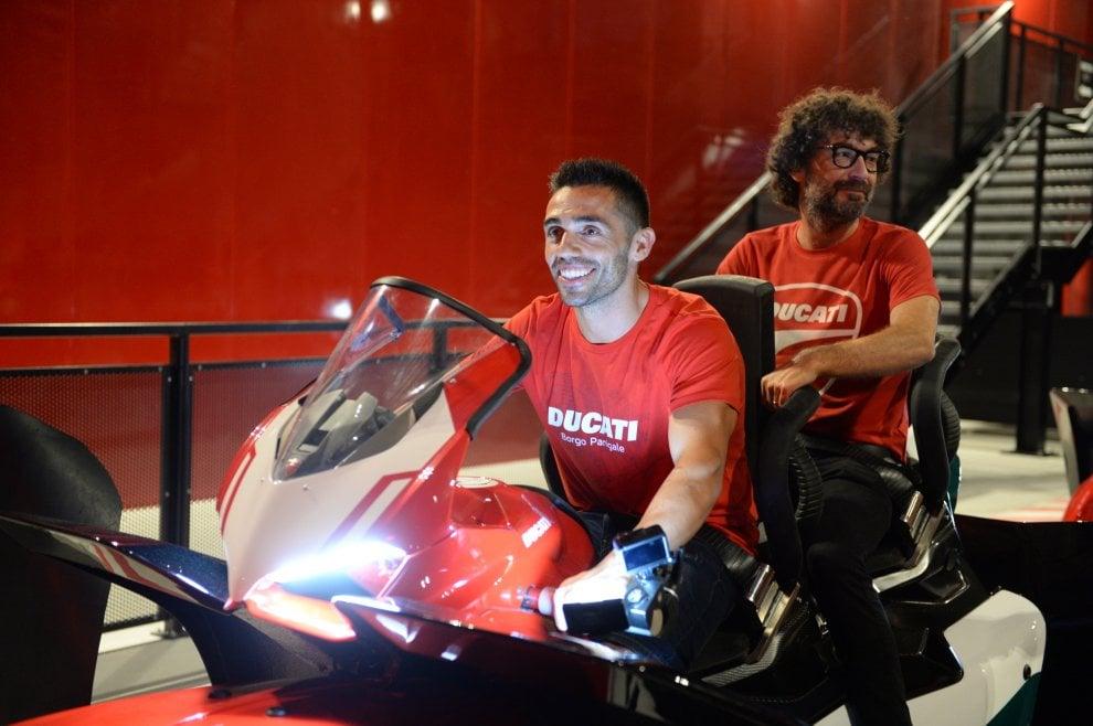 MotoGp, Ducati show a Mirabilandia