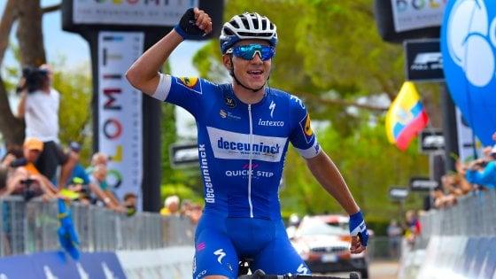 Ciclismo, Adriatica Ionica Race: finalmente Evenepoel. Padun ancora in Maglia azzurra