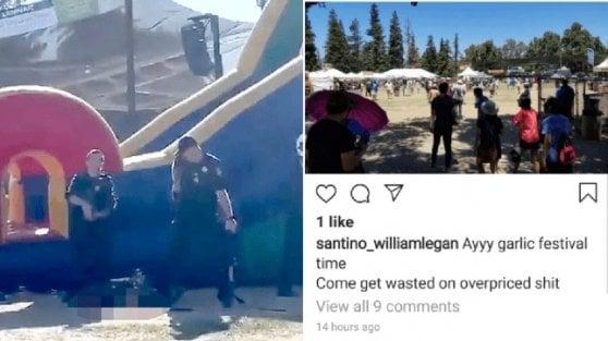 California, uomo spara durante un festival: tra i 3 morti anche due ragazzini. Ucciso il killer, ha origini italiane e iraniane