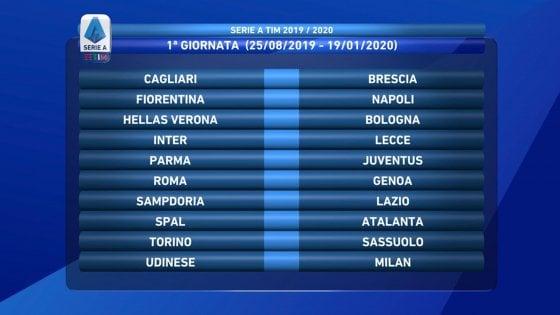 Serie A Calendario Inter.Serie A Il Calendario Esordio A Parma Per La Juve Subito