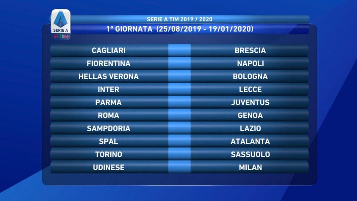 Calendario Serie A 15 Ottobre.Serie A Il Calendario Esordio A Parma Per La Juve Subito