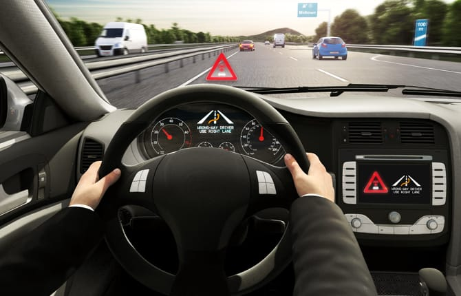 Wrong-way driver warning, mai più contromano
