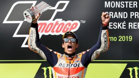 MotoGp, Marquez domina anche a Brno e allunga. Dovizioso secondo, Rossi sesto
