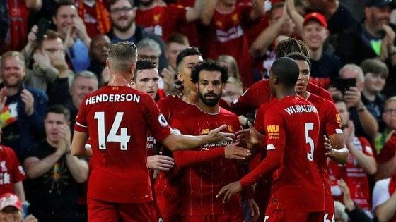 Inghilterra, il Liverpool non sbaglia la prima: poker al debutto contro il Norwich