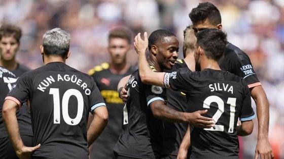 Premier League, show del Manchester City: 5-0 al West Ham. Il Tottenham vince in rimonta