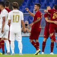 La Roma batte il Real Madrid ai rigori, applausi dell'Olimpico a Dzeko