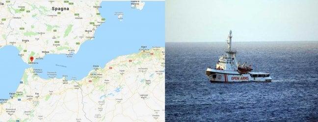 La mappa mostra dov'è Algeciras: da Lampedusa sono 7 giorni di navigazione