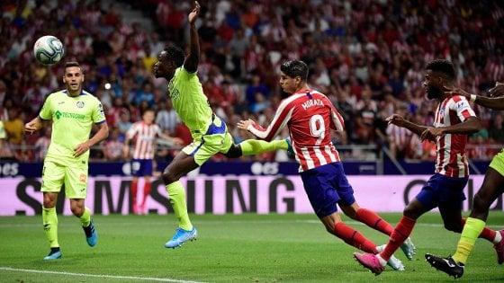 Spagna, l'Atletico non stecca all'esordio: Morata stende il Getafe