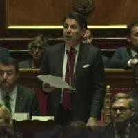 """Crisi di governo, Conte al Senato: """"Azione di governo finisce qui. Salvini ha seguito..."""
