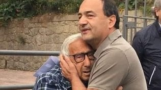Mimmo Lucano con il padre