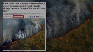 L'Amazzonia brucia e i social pregano con le foto sbagliate