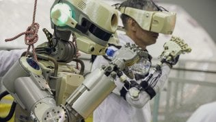 Il robot pilota durante l'addestramento