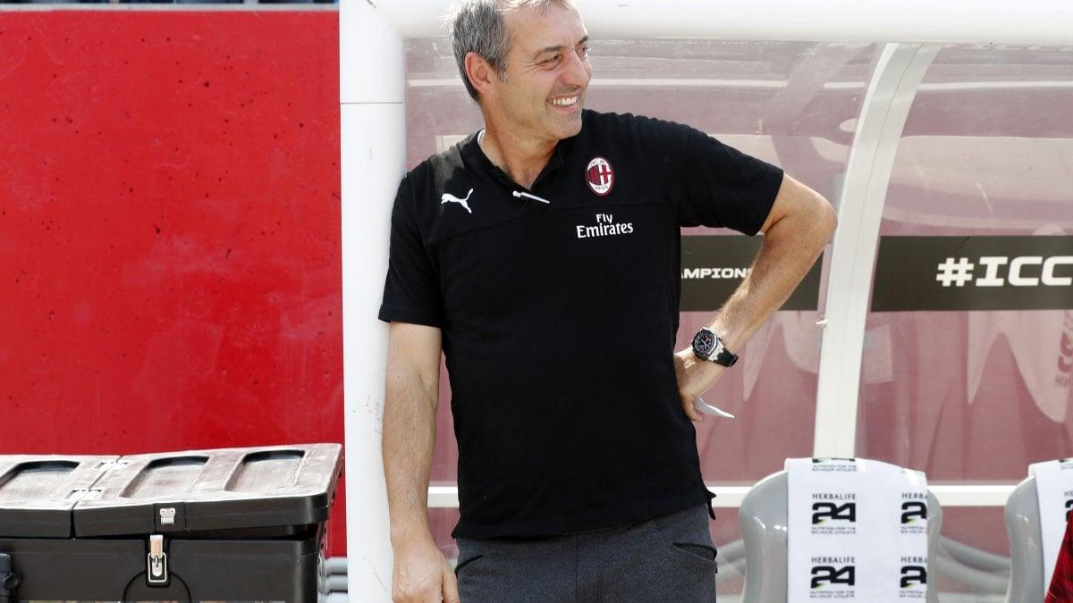 """Milan, Giampaolo: """"Non sento la pressione. E Piatek segnerà presto"""""""