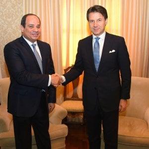 """G7, Conte vede Al Sisi: """"L'impegno dell'Italia sul caso Regeni non verrà meno"""""""