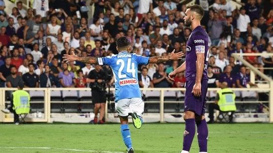 Fiorentina-Napoli 3-4: doppio Insigne, gli azzurri partono con il piede giusto