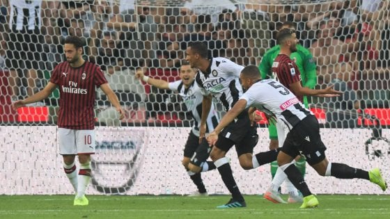 Udinese-Milan 1-0: il primo gol in carriera di Becao rovina l'esordio a Giampaolo