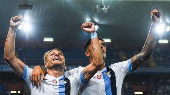 Sampdoria-Lazio 0-3, Immobile sfonda il muro dei 100 gol