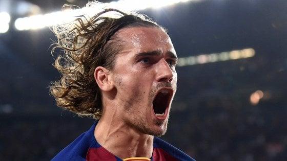 Spagna: Barcellona, una manita per sbloccarsi. Griezmann fa il... Messi