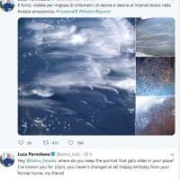 Amazzonia, Luca Parmitano pubblica le foto degli incendi dalla Stazione spaziale