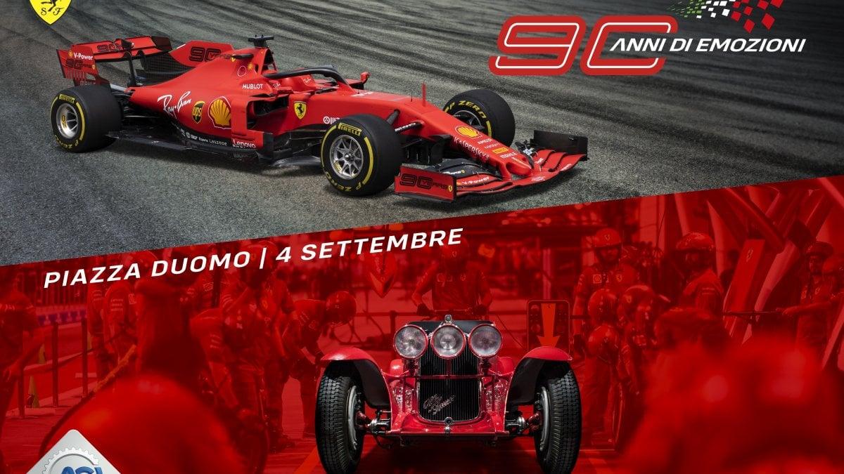 Doppia festa a Milano: 90 anni del Gp di Monza e della Ferrari